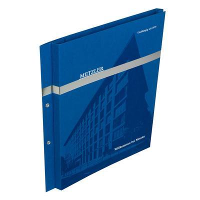 Blaue Mappe Willkommen bei Metzler