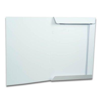 Weiße 3 Laschen Mappe