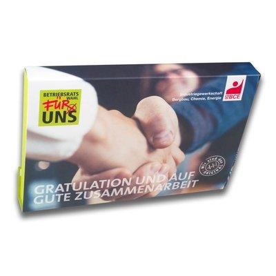 A5 Mailmappe mit Handschlag Motiv