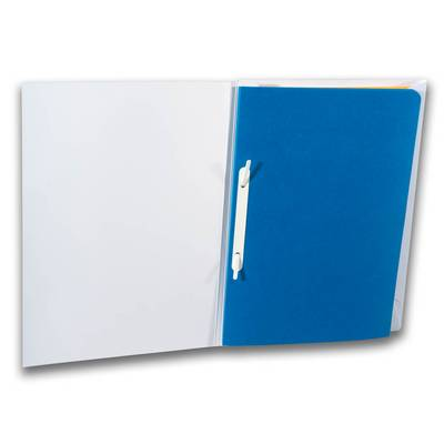 Schnellhefter mit blauen Blatt