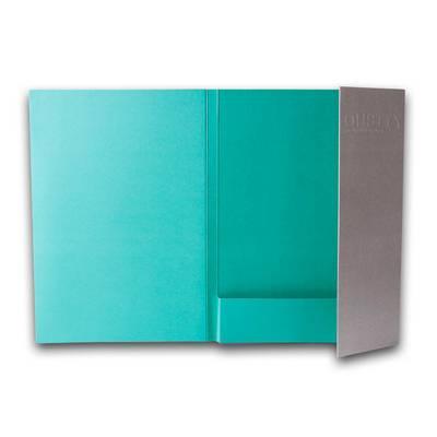 Blaugrüne Taschenmappe mit Klappe
