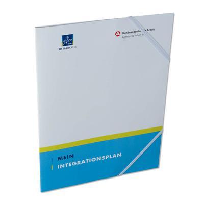 Bundesagentur für Arbeit Mappe mit blauen Streifen unten