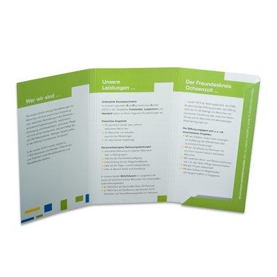 6 Seiten Mappe weiß/grün