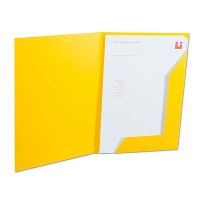 Gelbe Spitzlaschen Mappe