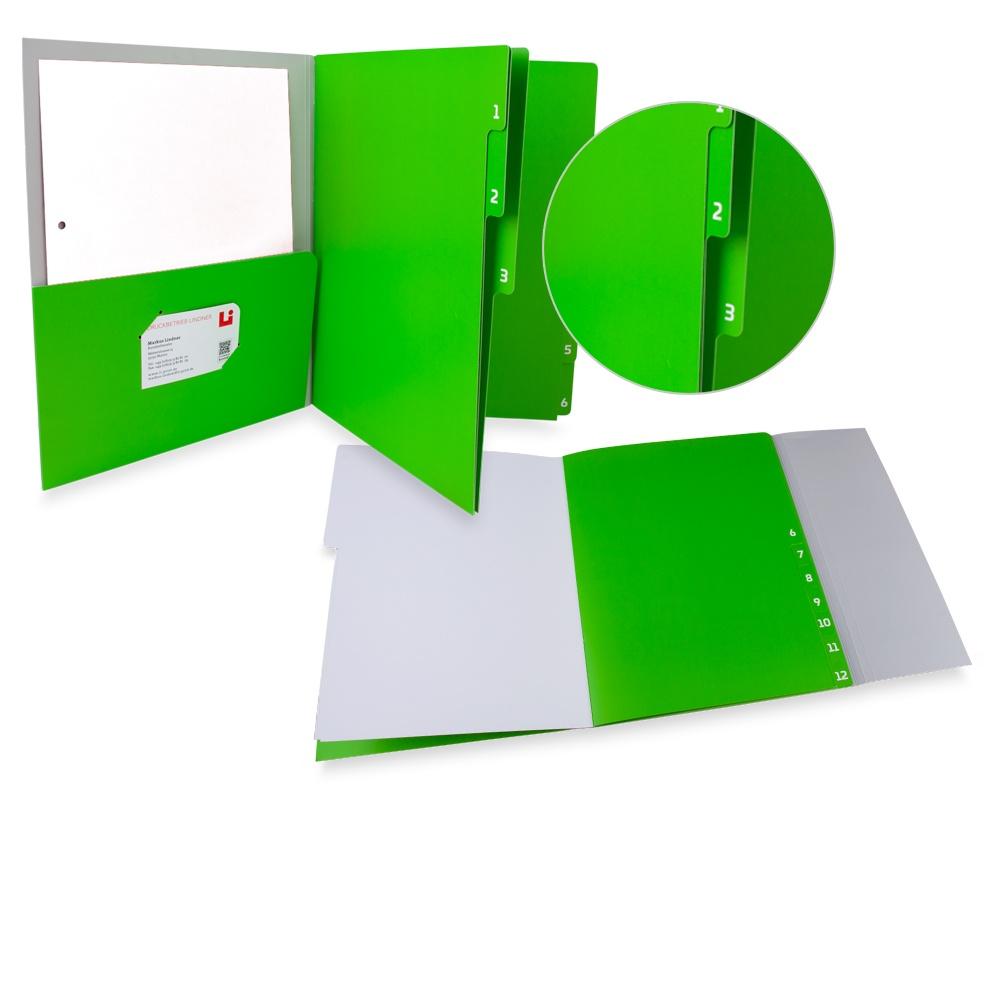 Grüne Registermappe